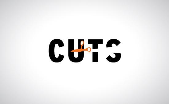 Cuts Barbershop Logo Graphic Design