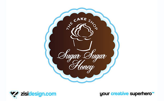Sugar Sugar Honey The Cake Shop Logo Design