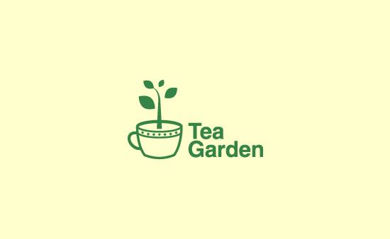 Garden Graphic Design decorated garden logo design Tea Garden Logo Graphic Design